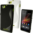 S Line TPU Gel Skin Case Cover for Sony Xperia M C1904 C1905 + Screen Protector