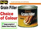 Rustins GRAIN FILLER - wood colour choice NATURAL - OAK - TEAK - MAHOGANY 125ml