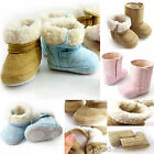 Cute Baby Girl Boy Unisex Infant Toddler Winter Warm Fur Shoes Snow Boots 6-24M