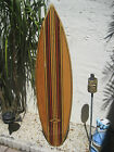 Tropical Decorative Wooden Surfboard Wall Art for a Coastal Beach Home Decor