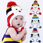 Baby N98 Boy Girl Infant Toddler Child Winter Warm Crochet Knit Earflap Hat Caps