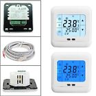 Underfloor Heating Programmable Room Thermostat LCD Backlit Touch Screen