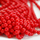 "16"" Natural Coral Round Beads Red 3mm, 6mm, 7mm"