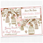 Personalised Save The Date Wedding Cards & Envelopes - Choose Your Colour SD004