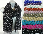 NEW CASUAL POLKA DOT CRINKLED SPOTTY SPOT FASHION SCARF HIJAB SPOTTED 10 COLOURS