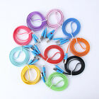 LED Smile Face Micro USB Data Sync Charger Flat Cable For Samsung S2 S3 S4 HTC