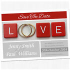 Personalised Save The Date Wedding Cards & Envelopes - Choose Your Colour SD002