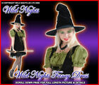 HALLOWEEN COSTUME LADIES SEXY MAGIC SPELL WITCH / HAT SIZE 8-16