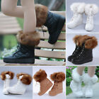 Women's Thick Crust Muffin Waterproof Warm Anti-skid Snow Boots Lace Boots P113