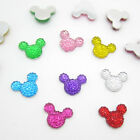 NEW 40pcs 14MM Resin Mouse Flat back Scrapbooking For DIY craft maik pick colors
