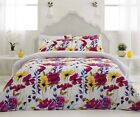 Floral RUBY Quilt / Doona Cover Set Double, Queen or King Size NEW