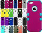 For iPhone 5 5S - Hard&Soft Rubber Hybrid Armor Impact Defender Skin Case Cover