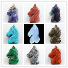 DJ-24 Beautiful Carved Mixed Stone Horse'head Pendant Bead