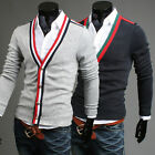 Hot Men's Stylish slim fit Knitwear Jumper Cardigan Sweaters Tops Coats 2 Colors