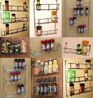 STRONG CHROME SPICE JAR PACKET HERB RACK HOLDER KITCHEN CUPBOARD OR WALL MOUNTED
