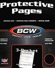 "25 PRO3C 3 Pocket Pages - Large Currency Coupon Organizer - 3½ X 8"" Pockets"