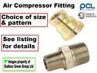 1 Air Compressor fitting, choice of thread size  Male Union or Female Reducer