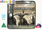 Australian Wool Blend quilt, Luxury Japara Cotton Cover, all sizes promo!