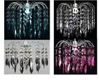 ACRYLIC  EMILY PENDANT CHANDELIER CLEAR DROPS CEILING LIGHT SHADE NIGHT GIFT NEW