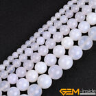 Natural Stone White Agate Gemstone Round Beads For Jewelry Making 6mm 8mm 10mm