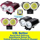 Upgraded SolarStorm X2 Mountain Bike Light Front Bicycle Lights Cree LED L2 T6