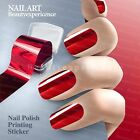 Fashion Full Nail Wraps Polish Stickers Red Nail Foils Transfer Easy DIY