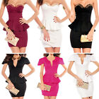 Ladies Sexy Party Dress Cocktail Evening Dress Club Wear Mini Dress 8 10 12 14