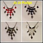 """20"""" Silver Leaves w/ Colored Beads -Necklace & Earring Set - U49"""