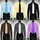 Giorgio Ferraro 7 Colors All Sizes Mens French Cuff Dress Shirt Spread Collar