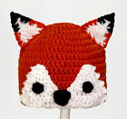 Fox Hat, What Does the Fox Say? Knit / Crochet Beanie baby - adult