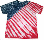 Tie Dye  USA T Shirt ,  Hand Dyed in the UK by Sunshine Clothing