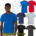 Mens 4 Pack Fruit of the Loom V-Neck Valueweight T Shirt-9 tshirt Colours