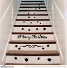 Christmas Stairs Vinyl Decal Stickers Xmas Staircase Decoration