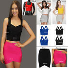 T01# New Ladies Slim Bandage Bodycon Stretch Mini Party casual Dress/Top/Skirt
