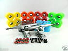 "Gunmetal 10"" 50 Degree Double Barrel V2 Longboard Trucks + 76mm Blank Pro Wheels"
