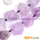 Natural Crude Geode Amethyst Jewelry Making loose gemstone beads strand 15""
