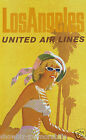 United Air Lines vintage retro print poster, large 4 sizes available, Airline116
