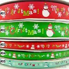 mixed colors snowman christmas grosgrain ribbon craft sewing U pick 9mm &25mm