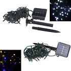 Solar 50/100/200 LED String Light Christmas Party Outdoor Garden White/Colorful