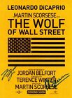 THE WOLF OF WALL STREET Leonardo DiCaprio SIGNED Autographed PHOTO Print POSTER