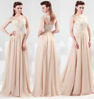Chiffon Sexy Masquerade Formal Bridesmaid Party Gowns Prom Wedding Long Dresses