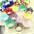 12pcs Vintage Style Hollow Out Cake Paper Wrapper Cupcake Wedding Decor Supplies