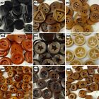 10/50/200pcs mixed wood round square star buttons lots craft/sewing U pick