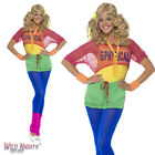 FANCY DRESS COSTUME # LADIES 1980s LETS GET PHYSICAL GIRL OUTFIT SIZES 4-18