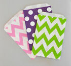 24 Chevron & Dots Wedding Birthday Bridal Candy Buffet Party Favor Goodie Bags