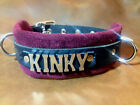 KINKY- Leather collar w/suede leather inside choose suede color