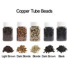 1000pcs 3.5mm Copper Tube Crimp Beads Micro Link Rings for Hair Extensions