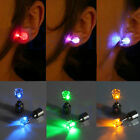 Fashion Light Up LED Blinking Earrings Studs Dance Party Accessories 8Color