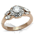 SOLITAIRE RUSSIAN LAB CREATED SIM DIAMOND COCTAIL ENGAGEMENT WEDDING RING TK1164