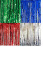Foil Shimmer Table Curtains 8ft (244cm) Wide by 3ft (92cm) Drop Various Colours